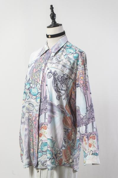 Water Color Art Frame Motif Pattern Blouse