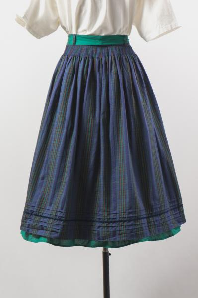 Made In Euro Check Pattern Tyrol Skirt