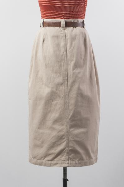Made In Euro Beige Chino Tight Skirt