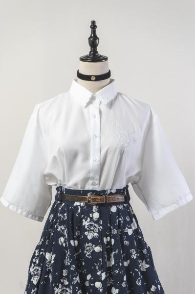 Scallop Collar White Blouse