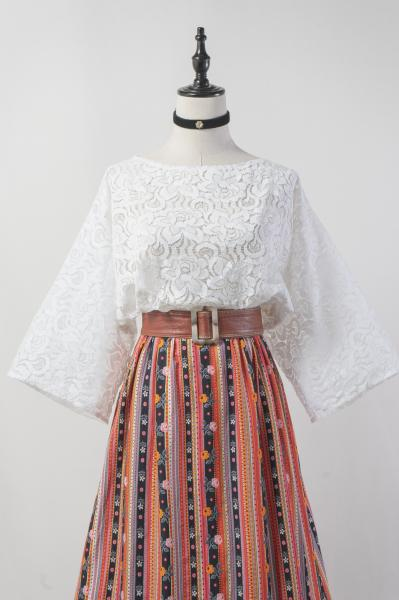 70's Made In France White Lace Tops