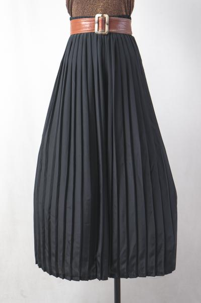 Made In France Pleats Black Wide Pants