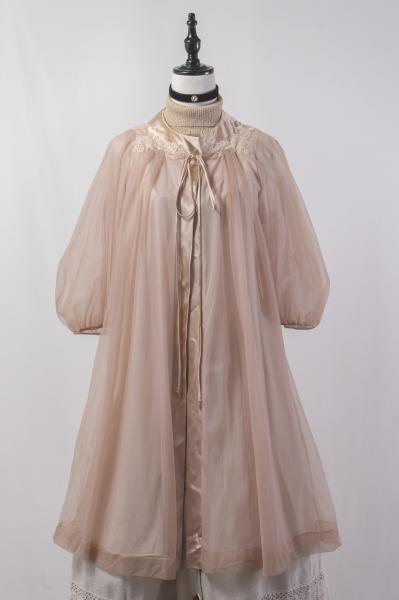 60~70's Pastel Brown Lingerie Gown
