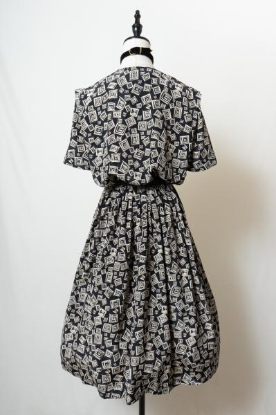 LESLIE FAY Square art Pattern Dress