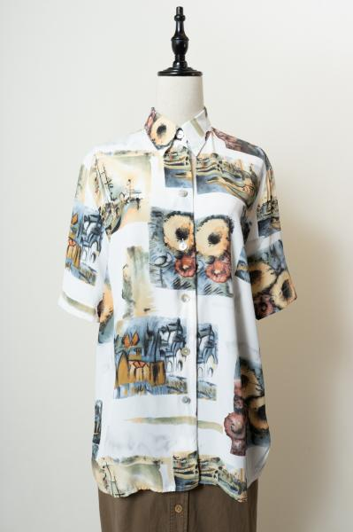 Made In Euro Art pattern Blouse
