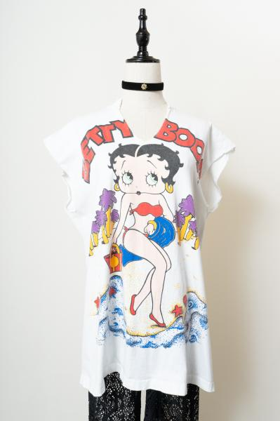 Betty Boop print Long T-shirt