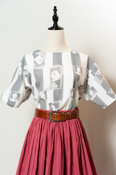 Hollywood 100th Anniversary Print Blouse