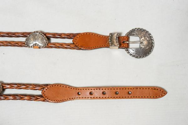 Heart Concho Rope Leather Belt