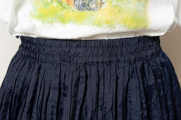 Made In Euro Pleats Navy Skirt
