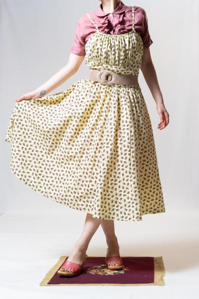 50's Retro Print Camisole Dress