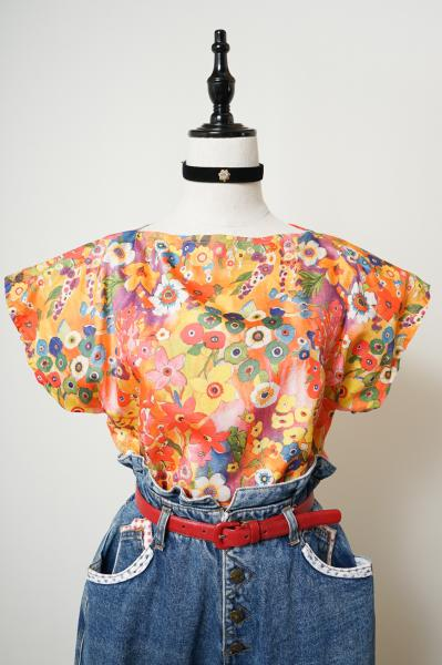Colorful Flower Painting Tops