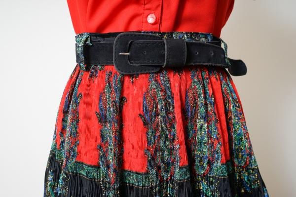 Made In Germany Retro Pattern Pleats Skirt