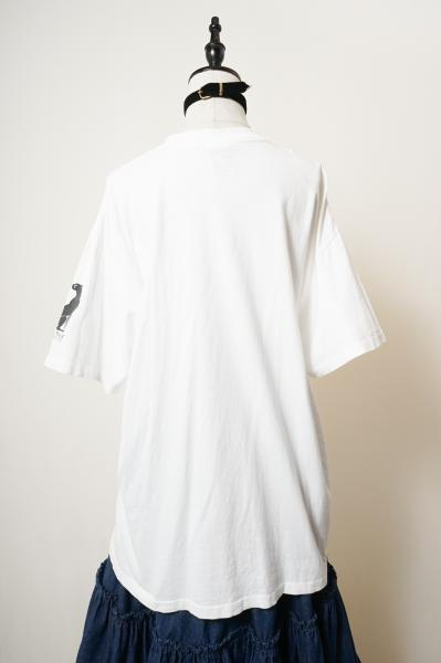 African People Silhouette Print Over T-shirt