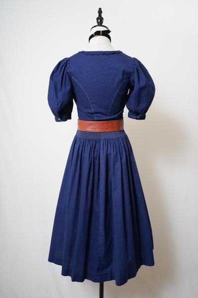 Made In EuroScallop Lace Design Navy Tyrol Dress
