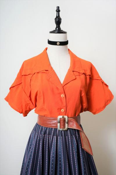 Shape Design Orange Blouse