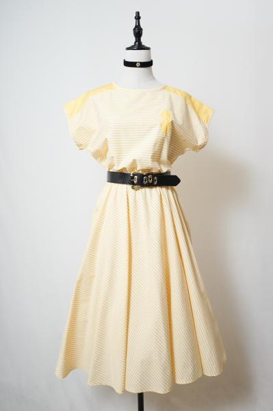 Made In Euro Yellow Border Dress