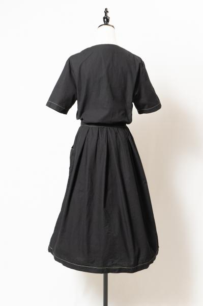 Made In Euro Embroidery Black Dress