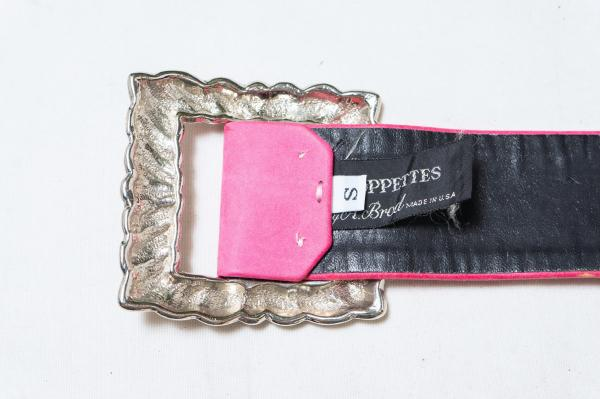 Big Silver buckle Pink Belt