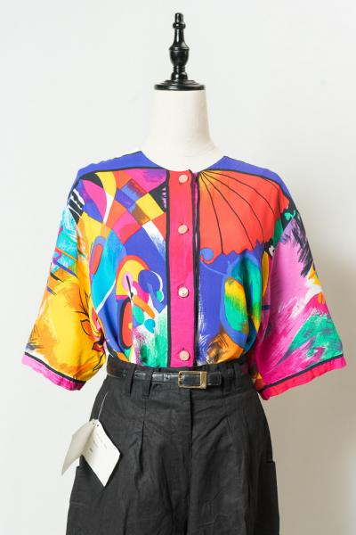 Made In Euro Colorful Art Blouse