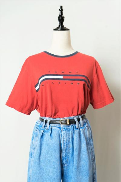 TOMMY HILFIGER Red T-sh