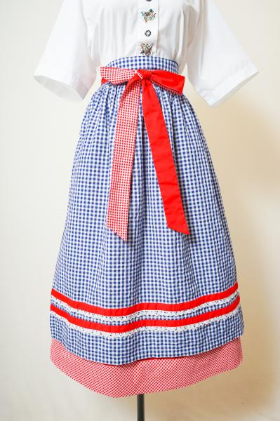 Made In Euro Flower Pattern with Apron Tyrol Skirt