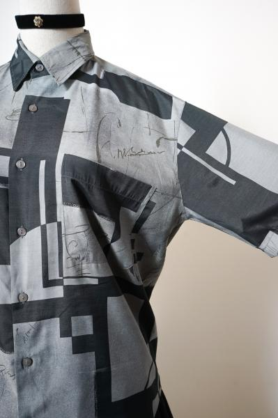 Modern Art Like Bicolor Blouse
