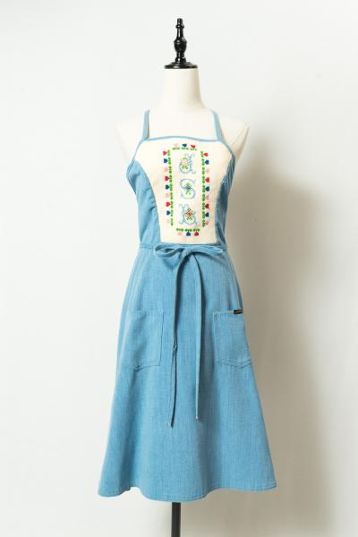 Handmade Embroidery Apron Dress