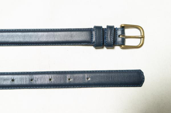Dark navy Leather Belt