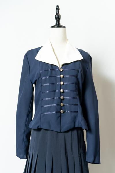 Made In France Oblong collar Navy Blouse