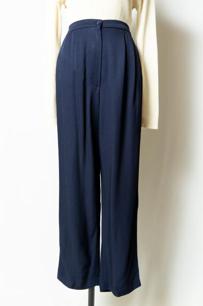 Navy Tuck Pants