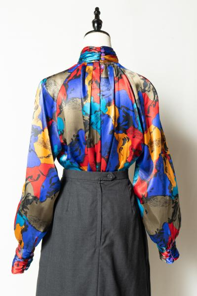 Art Pattern High neck Tops