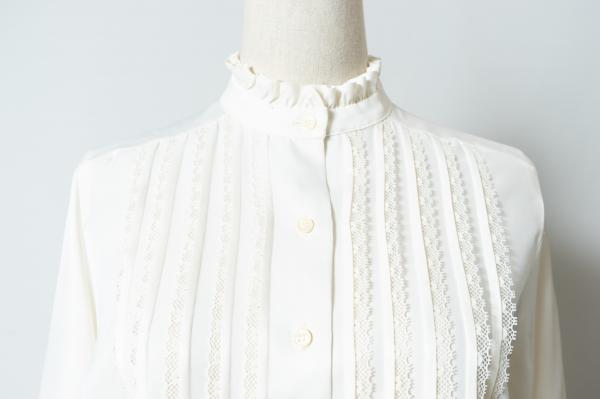 Frill Collar×Lace tack Blouse