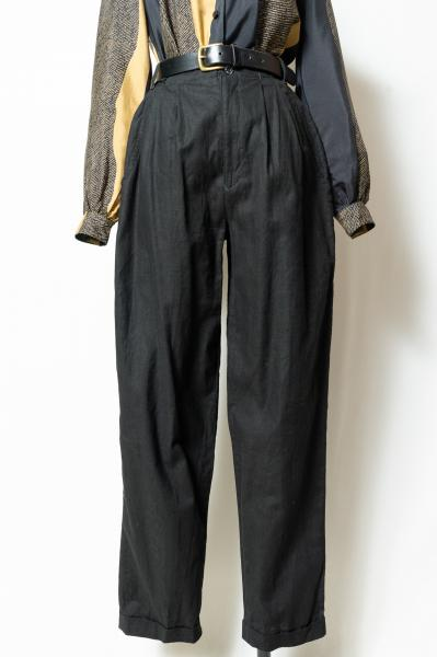 Black Tuck Pants