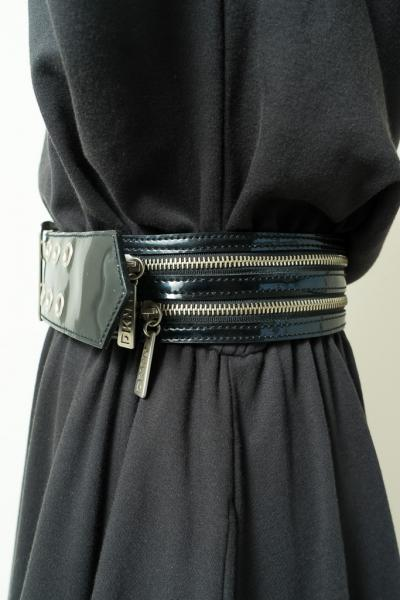 DKNY Zip design Enamel Belt