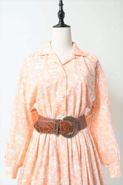 Flower Open collar Dress