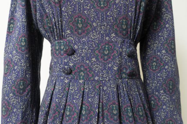Retro Flower Purple Dress