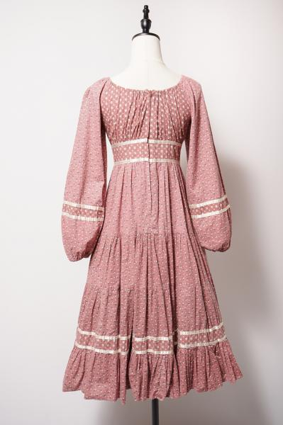 Small Flower Pattern Smokey pink Dress