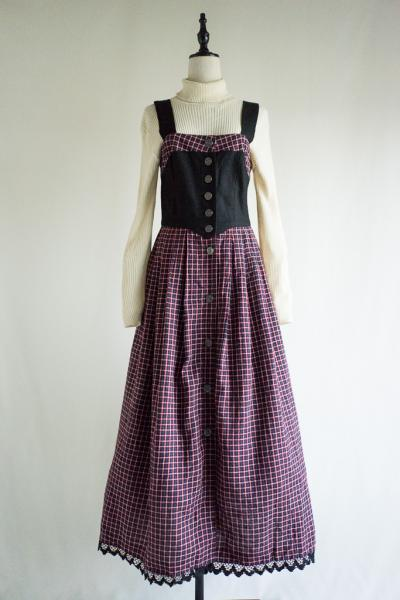 Made In Euro Check Tyrol Dress