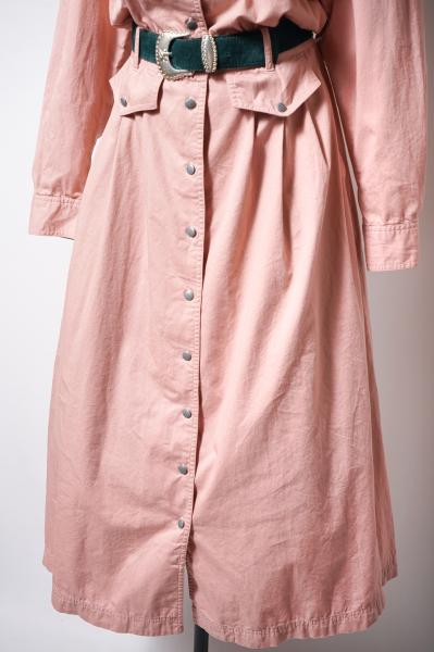 Simple Cotton Maxi Pink Dress
