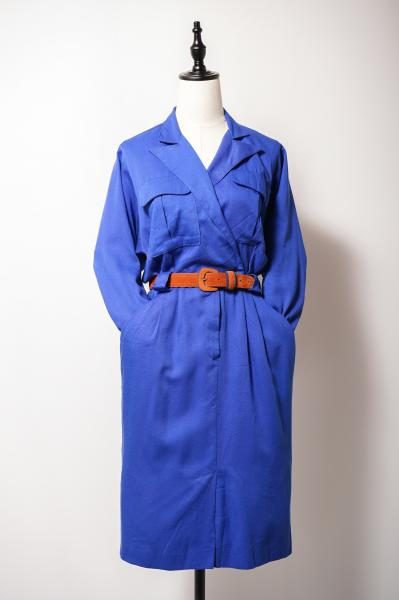 Simple Blue Cache-couer Dress