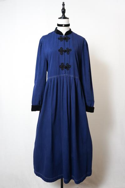 China Design  Cotton Navy Dress
