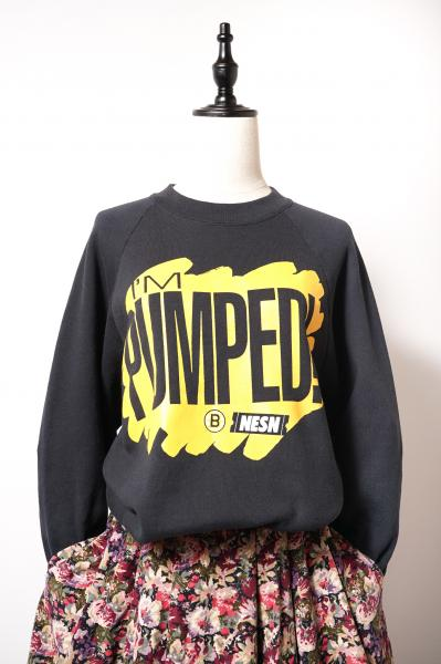PUMPED print Black Over Sweat