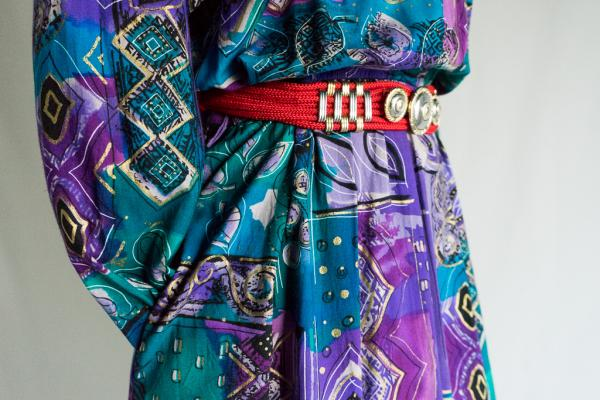 Art Exotic Pattern Shirt Dress