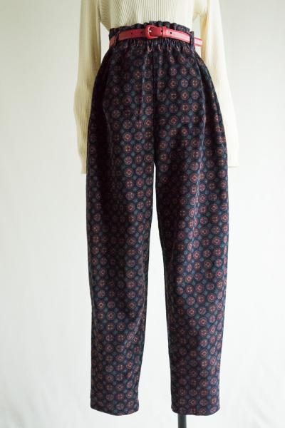 Retro Pattern Corduroy Pants