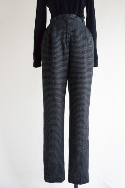 Made In Italy Desing Black Wool Pants