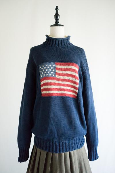 RALPH LAUREN COUNTRY Stars and stripes Sweater