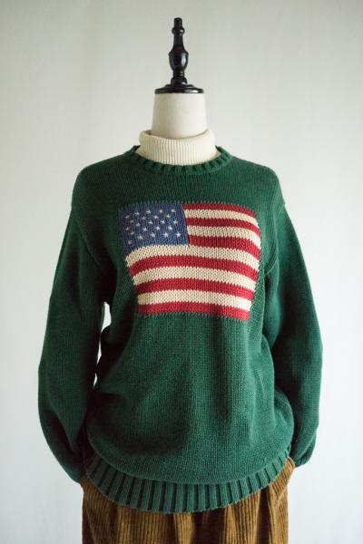 POLO RALPH LAUREN Stars and stripes Green Sweater