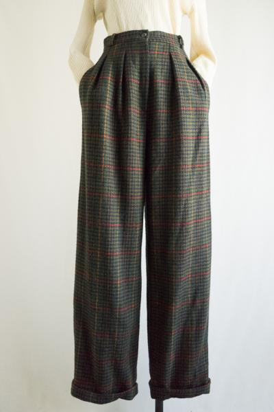 Double Check Wool Pants