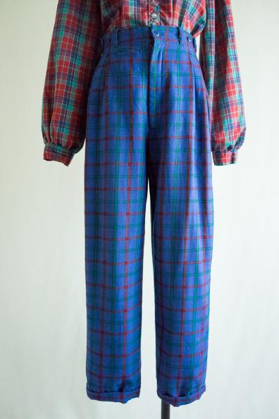 Made In Japan Blue Check Pants