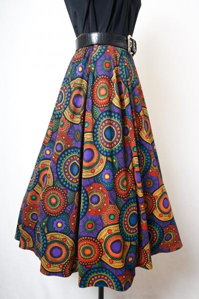 Oriental Circle Pattern Colorful Skirt